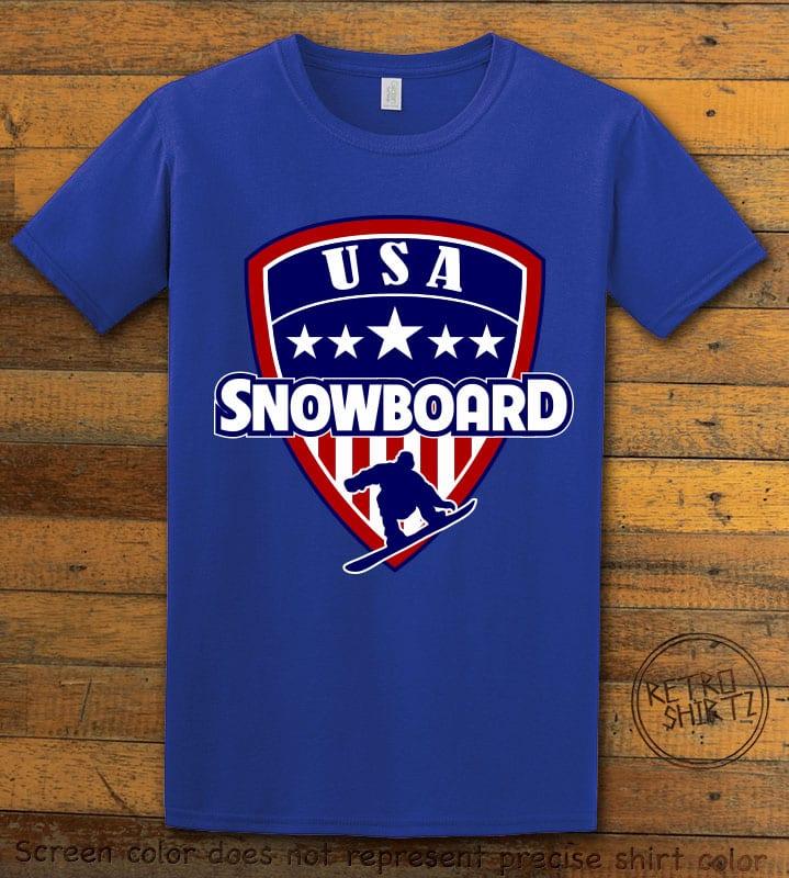 USA Snowboard Team Graphic T-Shirt - royal shirt design