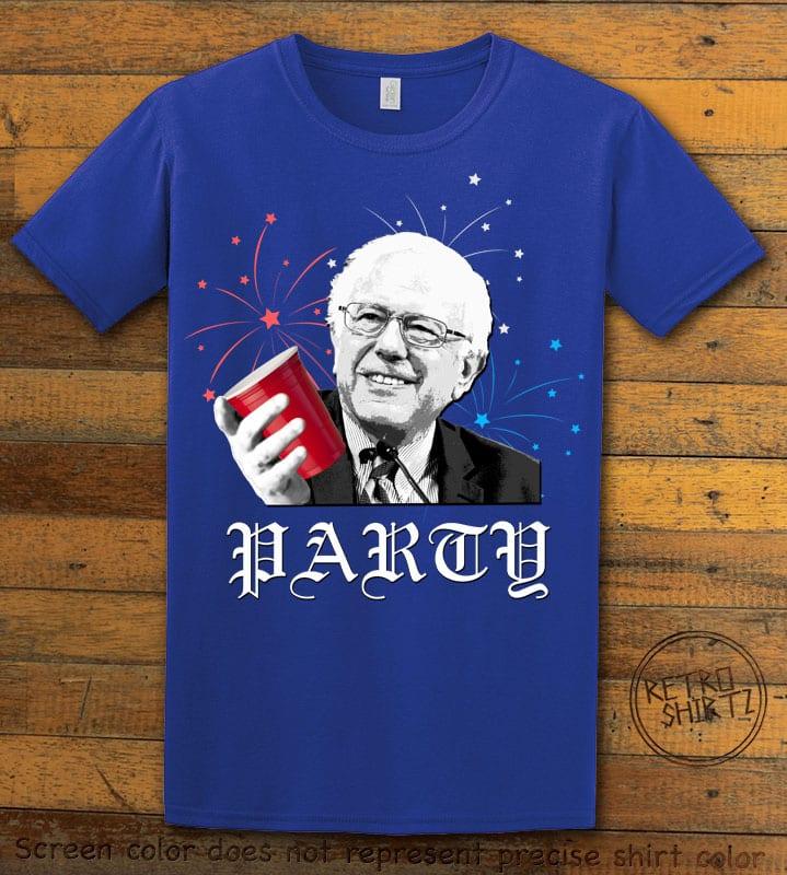 Party Bernie Graphic T-Shirt - royal shirt design