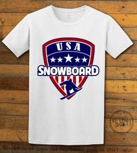 USA Snowboard Team Graphic T-Shirt - white shirt design