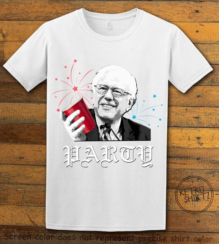 Party Bernie Graphic T-Shirt - white shirt design
