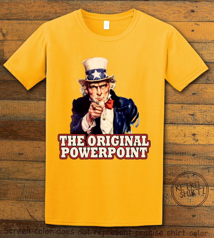 The Original Power Point Graphic T-Shirt - yellow shirt design