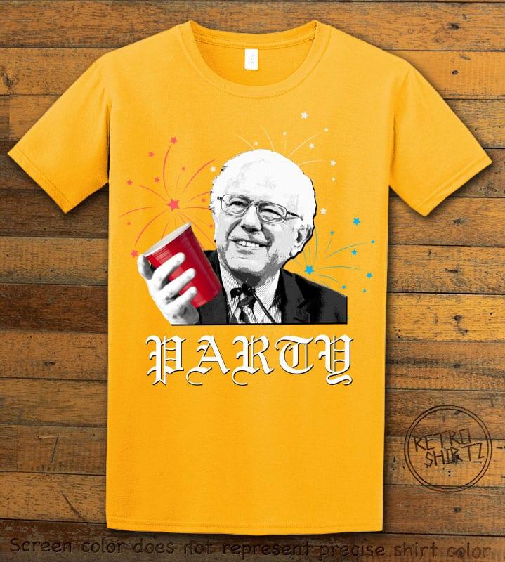 Party Bernie Graphic T-Shirt - yellow shirt design