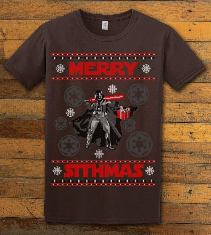 Merry Sithmas Graphic T-Shirt - brown shirt design