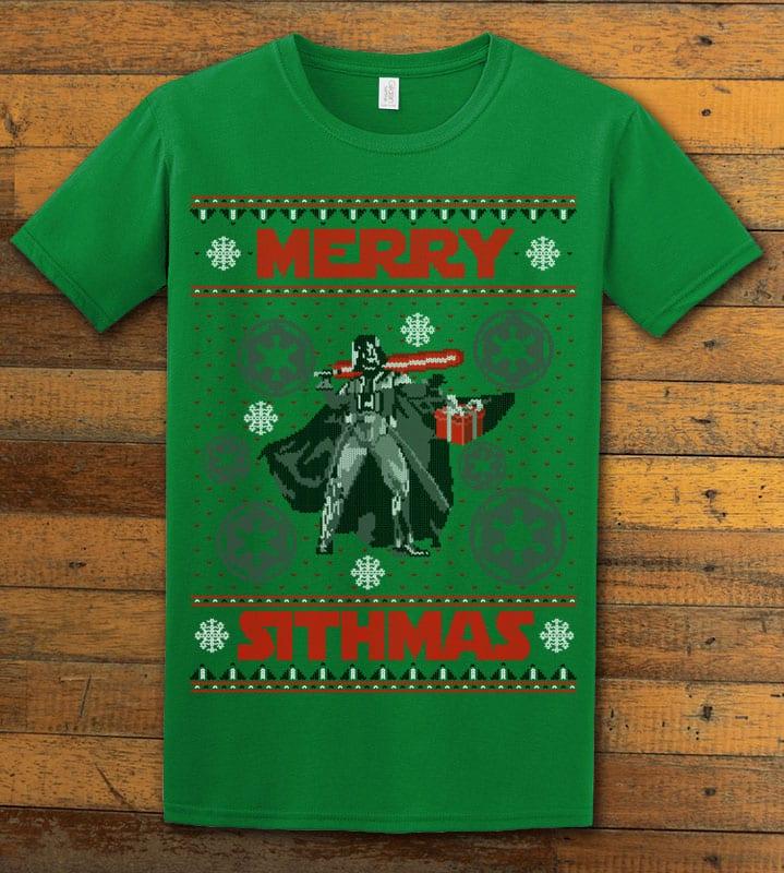 Merry Sithmas Graphic T-Shirt - green shirt design