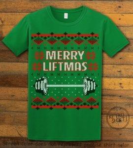 Merry Liftmas Graphic T-Shirt - green shirt design