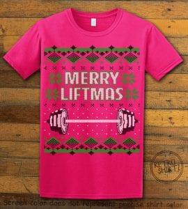Merry Liftmas Graphic T-Shirt - pink shirt design