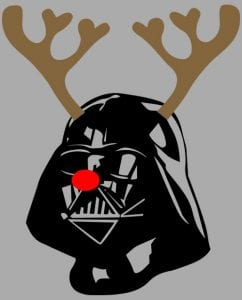 Darth Vader The Red Nosed Reindeer Graphic T-Shirt main vector design