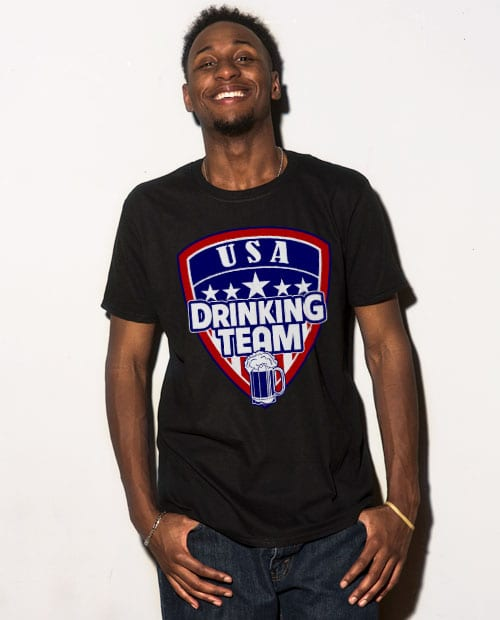This is the main model photo for the USA Drinking Team