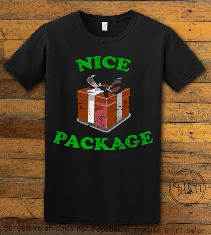 Nice Package Christmas T Shirt - black shirt design