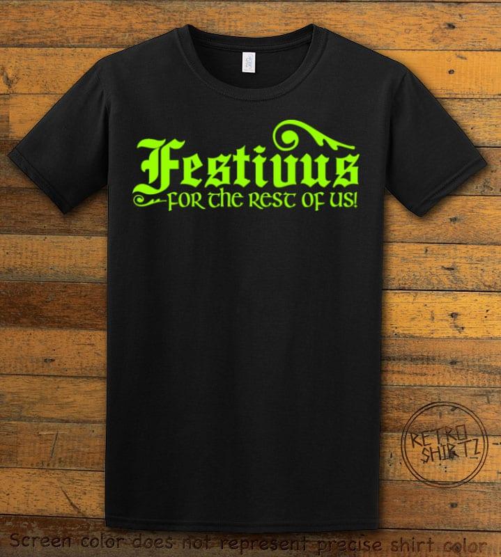Festivus For The Rest Of Us Graphic T-Shirt - black shirt design