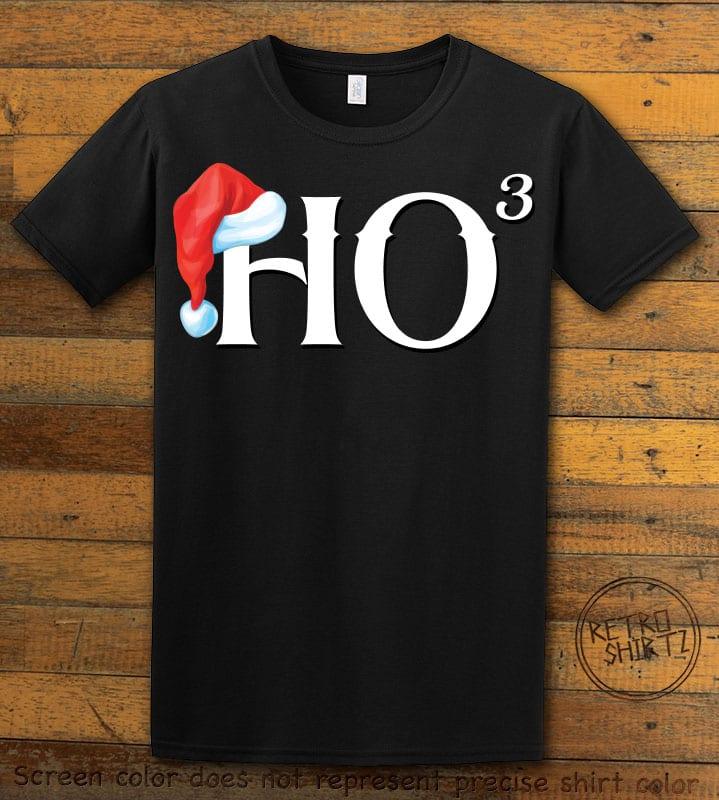 Ho Cubed - Graphic T-Shirt - black shirt design