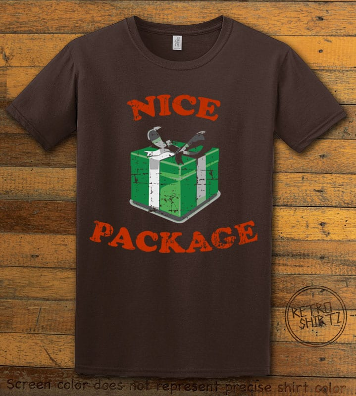 Nice Package Christmas T Shirt - brownshirt design
