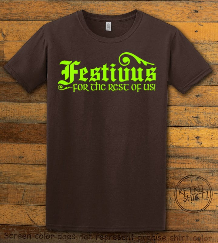 Festivus For The Rest Of Us Graphic T-Shirt - brown shirt design