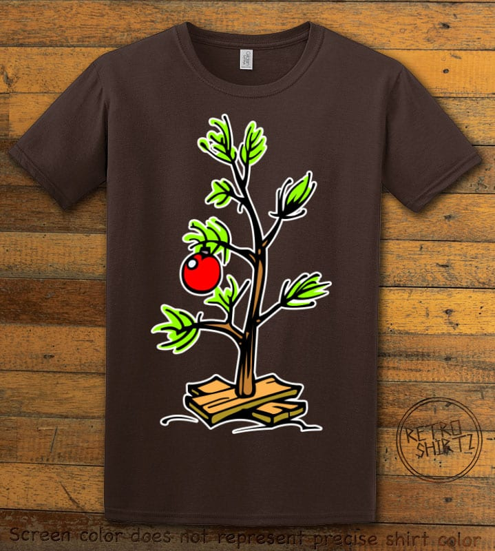 Charlie Brown Christmas Tree Graphic T-Shirt - brown shirt design