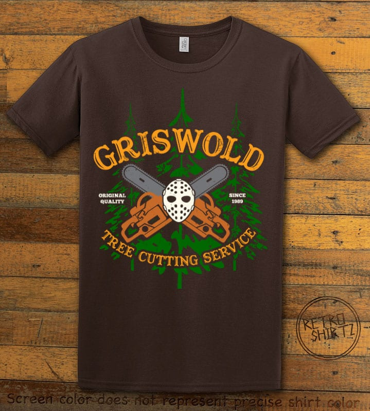 Griswold Tree Cutting Service Graphic T-Shirt - brown shirt design