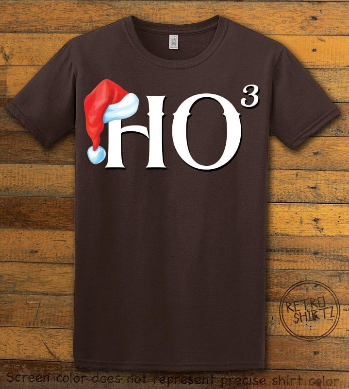 Ho Cubed - Graphic T-Shirt - brown shirt design
