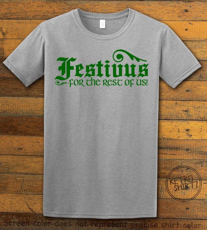 Festivus For The Rest Of Us Graphic T-Shirt - grey shirt design
