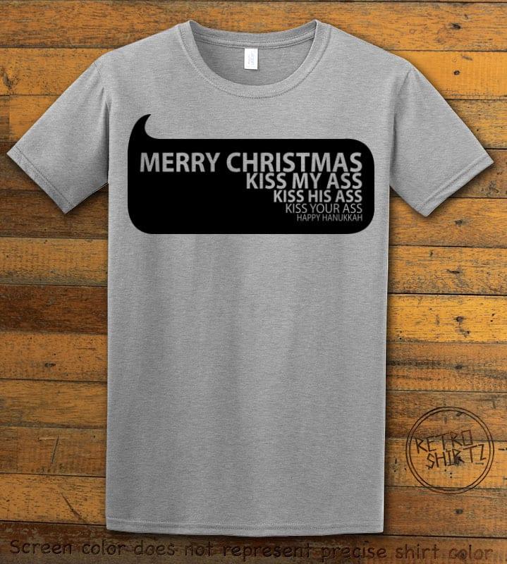 Speech Bubble Graphic T-Shirt - grey shirt design