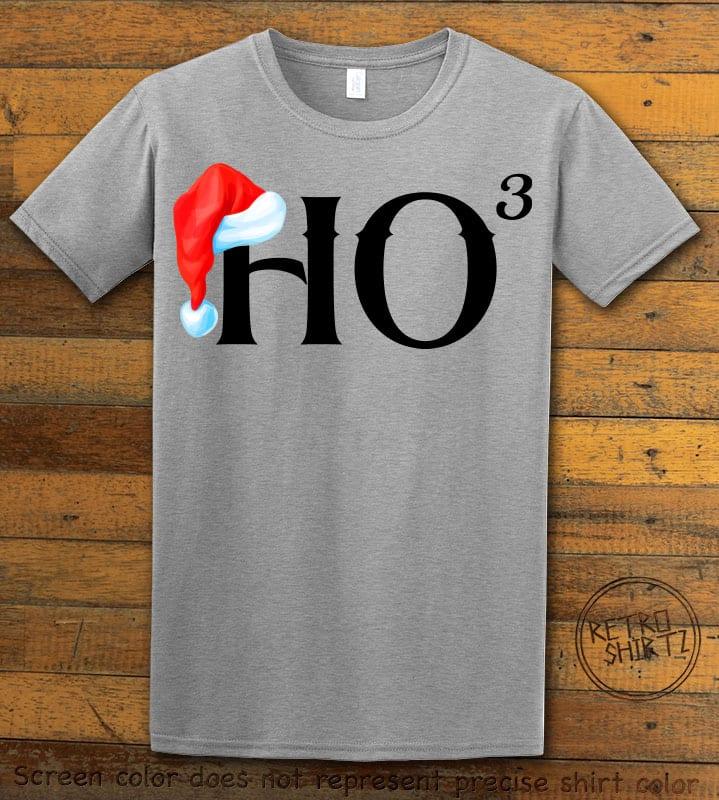 Ho Cubed - Graphic T-Shirt - grey shirt design