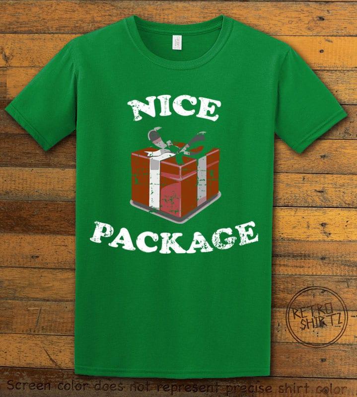 Nice Package Christmas T Shirt - green shirt design