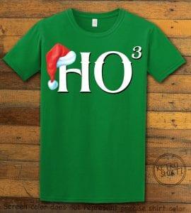 Ho Cubed - Graphic T-Shirt - green shirt design