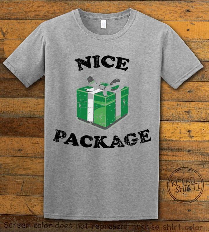 Nice Package Christmas T Shirt - grey shirt design