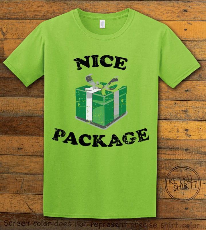 Nice Package Christmas T Shirt - lime shirt design