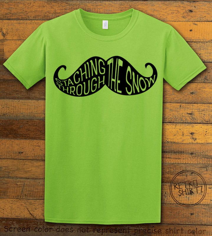 Staching Through The Snow Graphic T-Shirt - lime shirt design