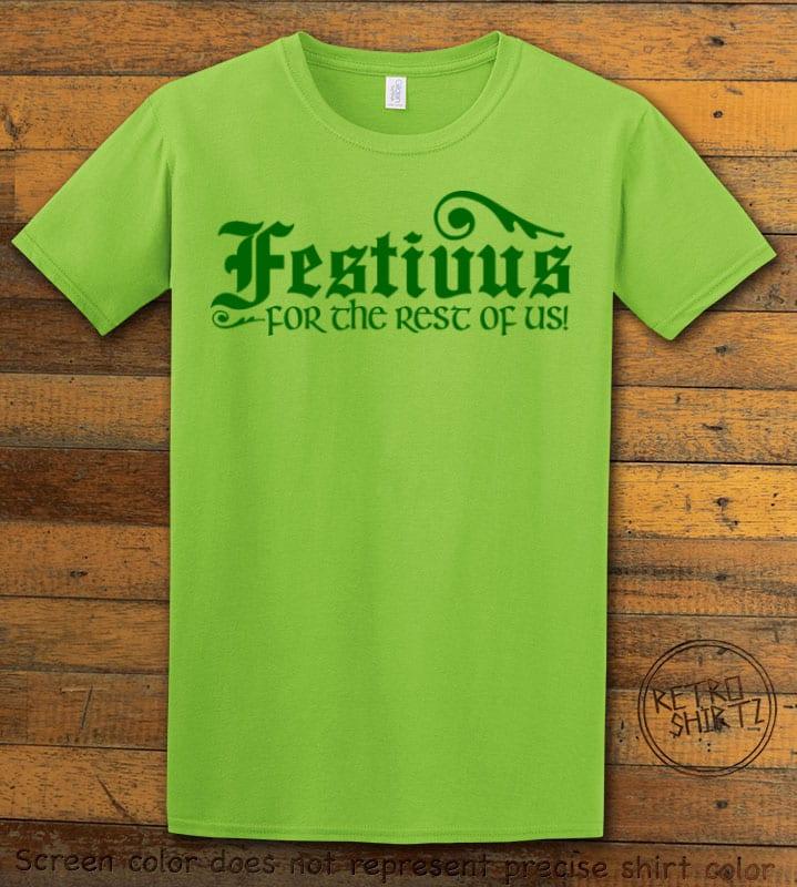 Festivus For The Rest Of Us Graphic T-Shirt - lime shirt design