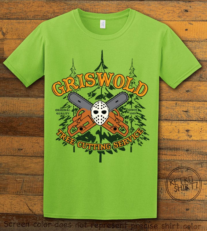 Griswold Tree Cutting Service Graphic T-Shirt - lime shirt design
