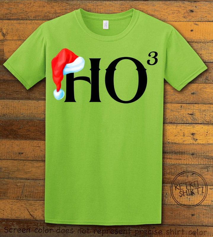 Ho Cubed - Graphic T-Shirt - lime shirt design
