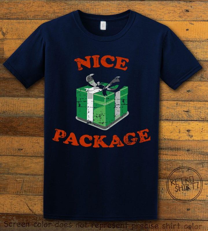Nice Package Christmas T Shirt - navy shirt design