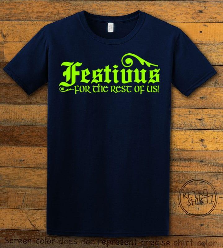 Festivus For The Rest Of Us Graphic T-Shirt - navy shirt design