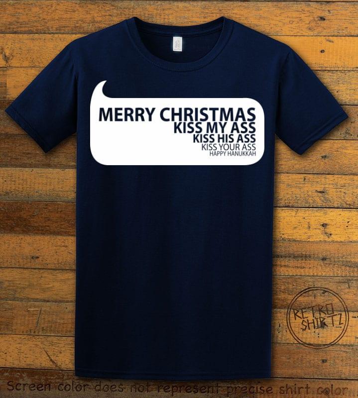Speech Bubble Graphic T-Shirt - navy shirt design