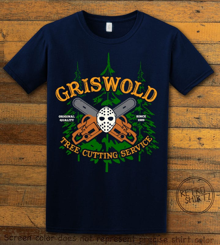 Griswold Tree Cutting Service Graphic T-Shirt - navy shirt design