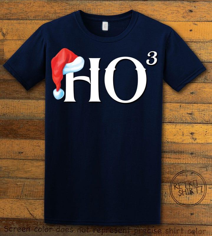 Ho Cubed - Graphic T-Shirt - navy shirt design