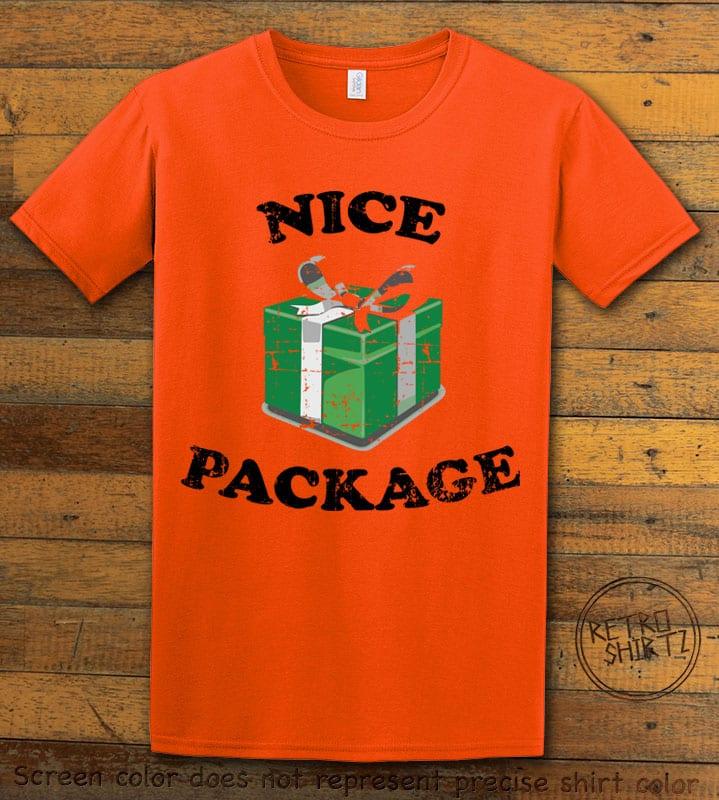 Nice Package Christmas T Shirt - orange shirt design