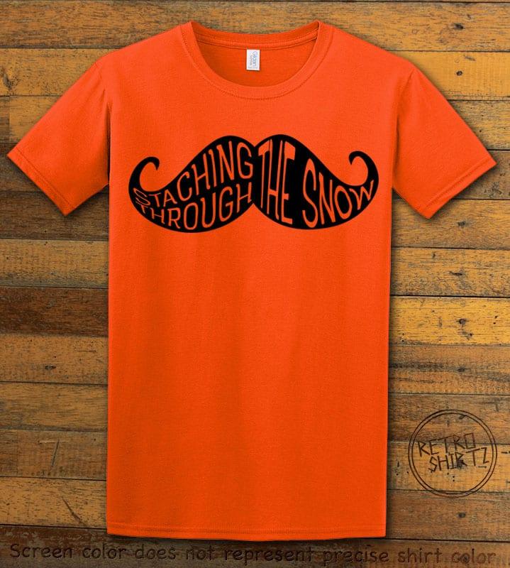 Staching Through The Snow Graphic T-Shirt - orange shirt design