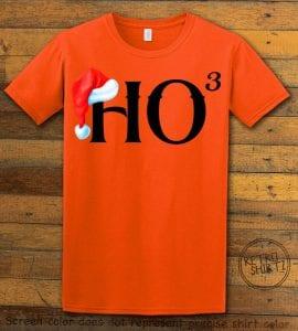 Ho Cubed - Graphic T-Shirt - orange shirt design