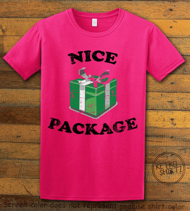 Nice Package Christmas T Shirt - pink shirt design