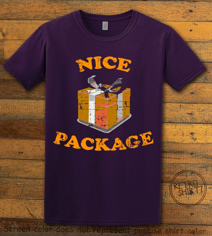 Nice Package Christmas T Shirt- purple shirt design