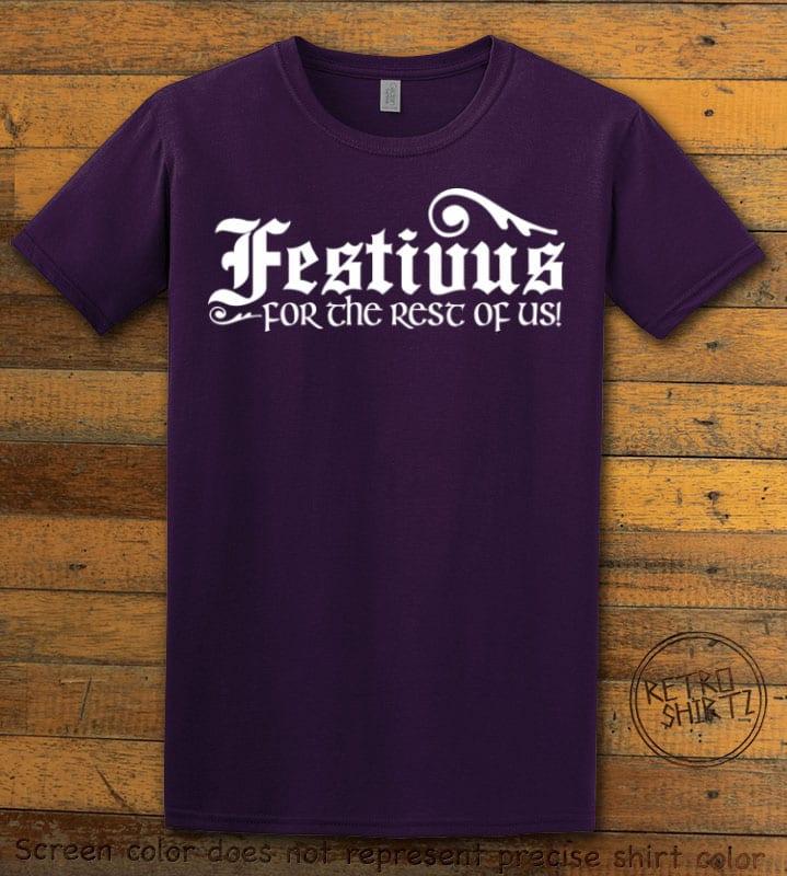 Festivus For The Rest Of Us Graphic T-Shirt - purple shirt design