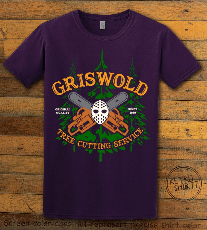 Griswold Tree Cutting Service Graphic T-Shirt - purple shirt design