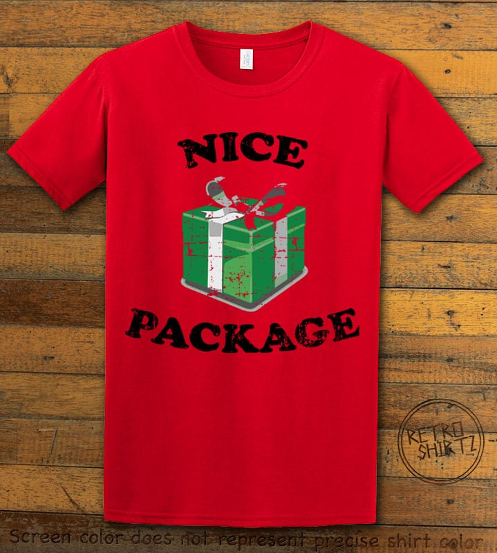 Nice Package Christmas T Shirt - red shirt design
