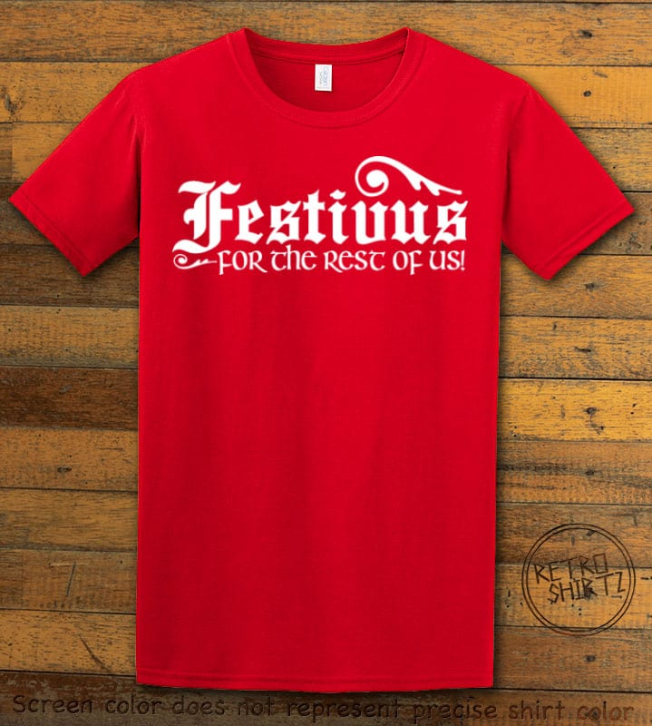 Festivus For The Rest Of Us Graphic T-Shirt - red shirt design