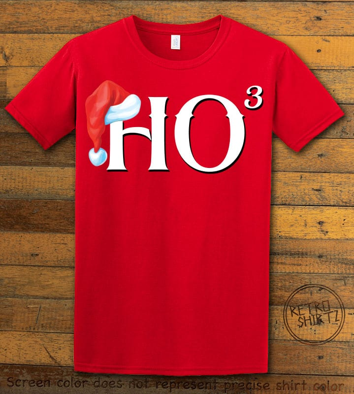 Ho Cubed - Graphic T-Shirt - red shirt design