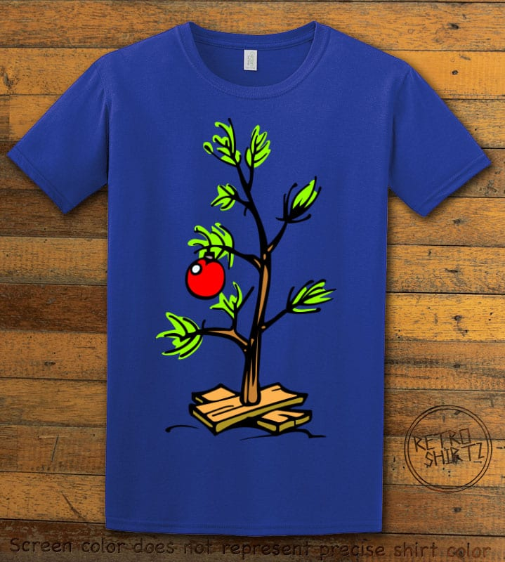 Charlie Brown Christmas Tree Graphic T-Shirt - royal shirt design