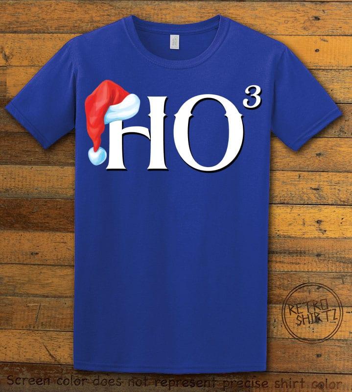 Ho Cubed - Graphic T-Shirt - royal shirt design