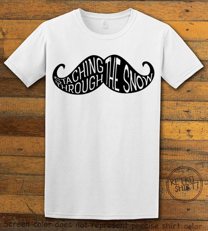 Staching Through The Snow Graphic T-Shirt - white shirt design