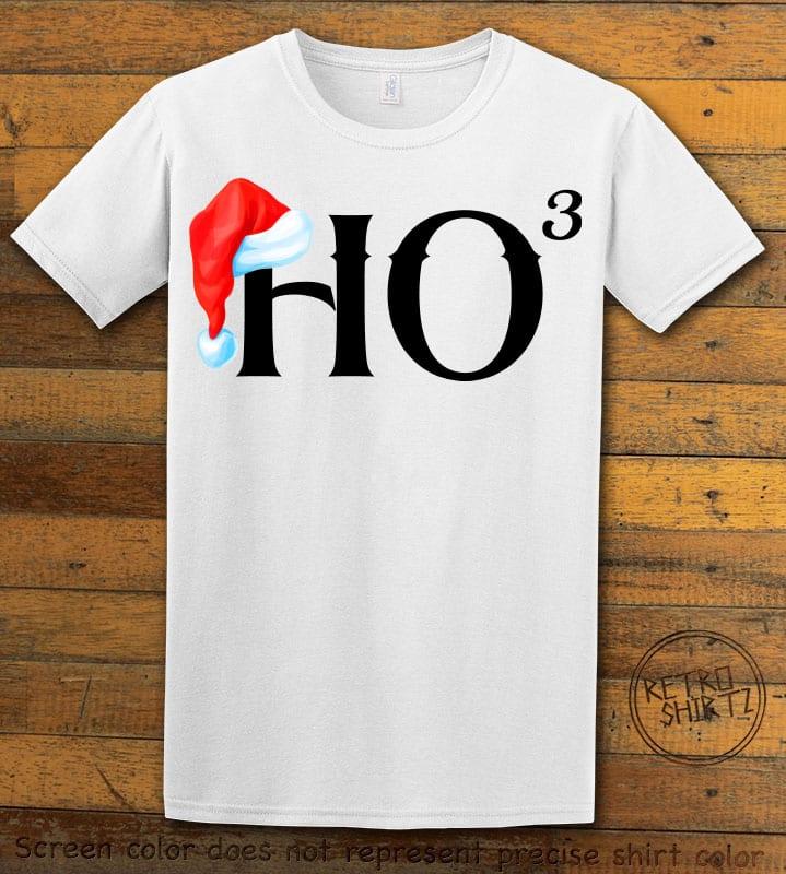 Ho Cubed - Graphic T-Shirt - white shirt design